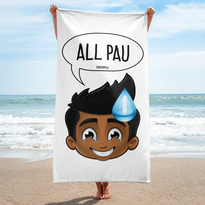 """ALL PAU"" Original PIDGINMOJI Characters Beach Towel"