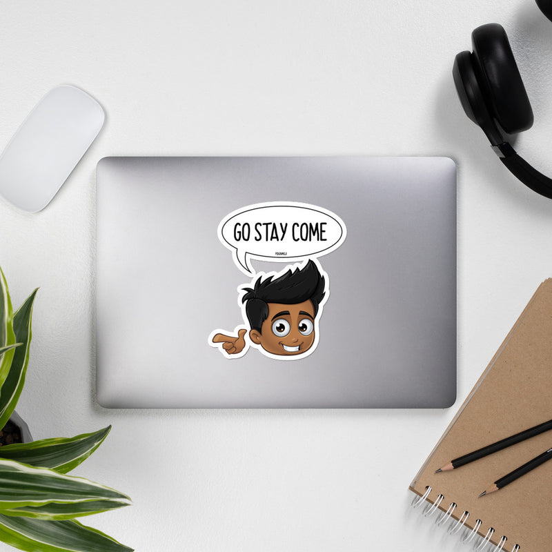 """GO STAY COME"" Original PIDGINMOJI Characters Stickah (Male)"