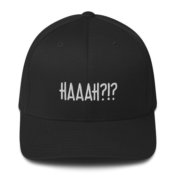 """HAAAH?!?"" Pidginmoji Dark Structured Cap"