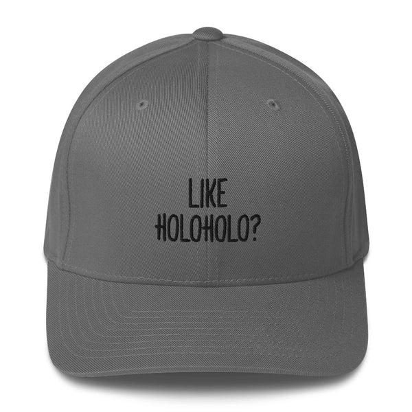 """LIKE HOLOHOLO?"" Pidginmoji Light Structured Cap"
