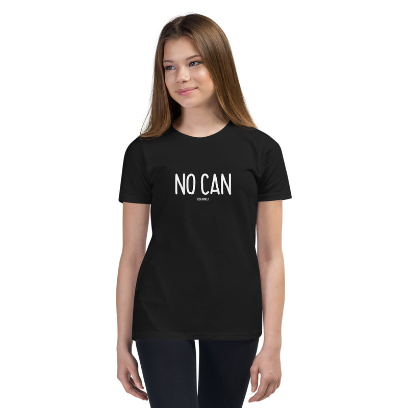 """NO CAN"" Youth Pidginmoji Dark Short Sleeve T-shirt"