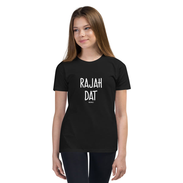 """RAJAH DAT"" Youth Pidginmoji Dark Short Sleeve T-shirt"