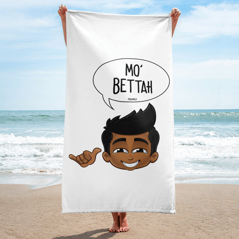 """MO' BETTAH"" Original PIDGINMOJI Characters Beach Towel"