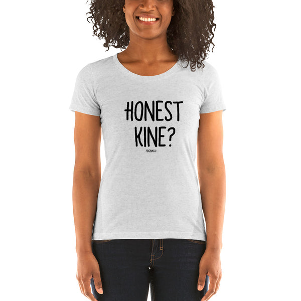 """HONEST KINE?"" Women's Pidginmoji Light Short Sleeve T-shirt"