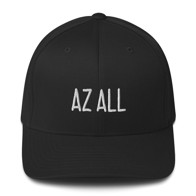 """AZ ALL"" Pidginmoji Dark Structured Cap"