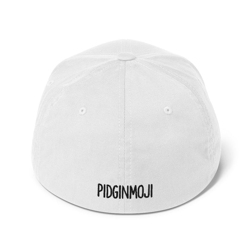 """'ASS WHY HARD!"" Pidginmoji Light Structured Cap"