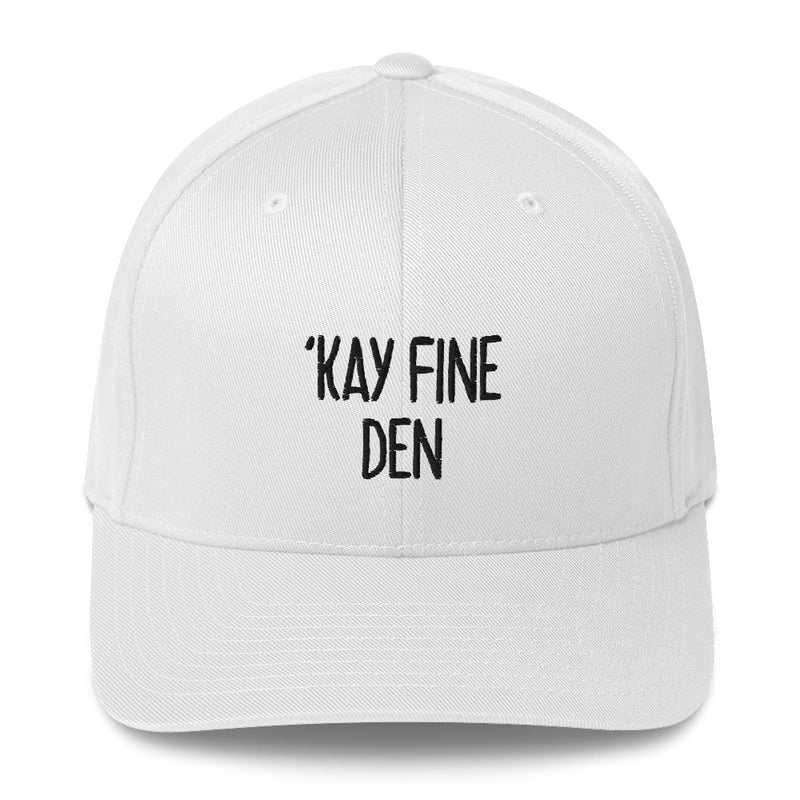 """'KAY FINE DEN"" Pidginmoji Light Structured Cap"