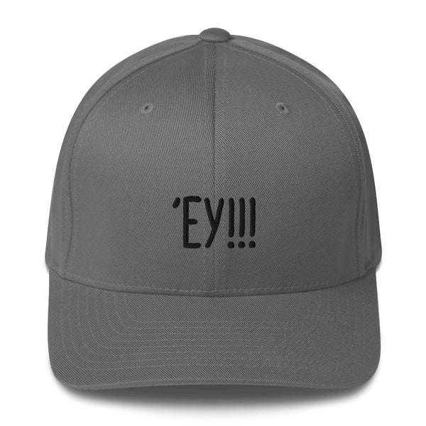 """'EY!!!"" Pidginmoji Light Structured Cap"