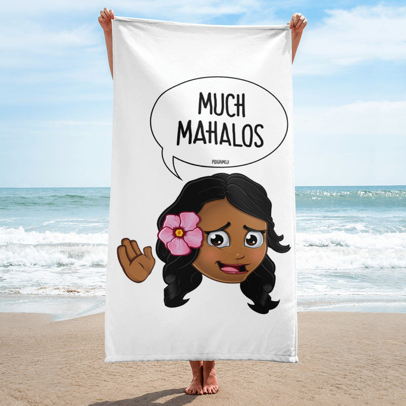 """MUCH MAHALOS"" Original PIDGINMOJI Characters Beach Towel"