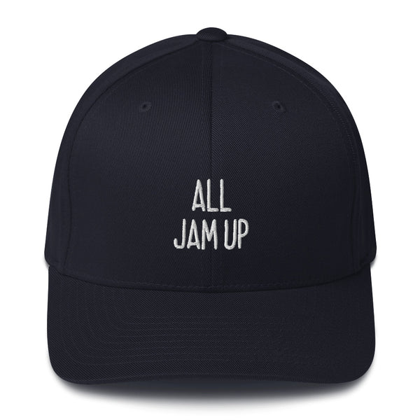 """ALL JAM UP"" Pidginmoji Dark Structured Cap"