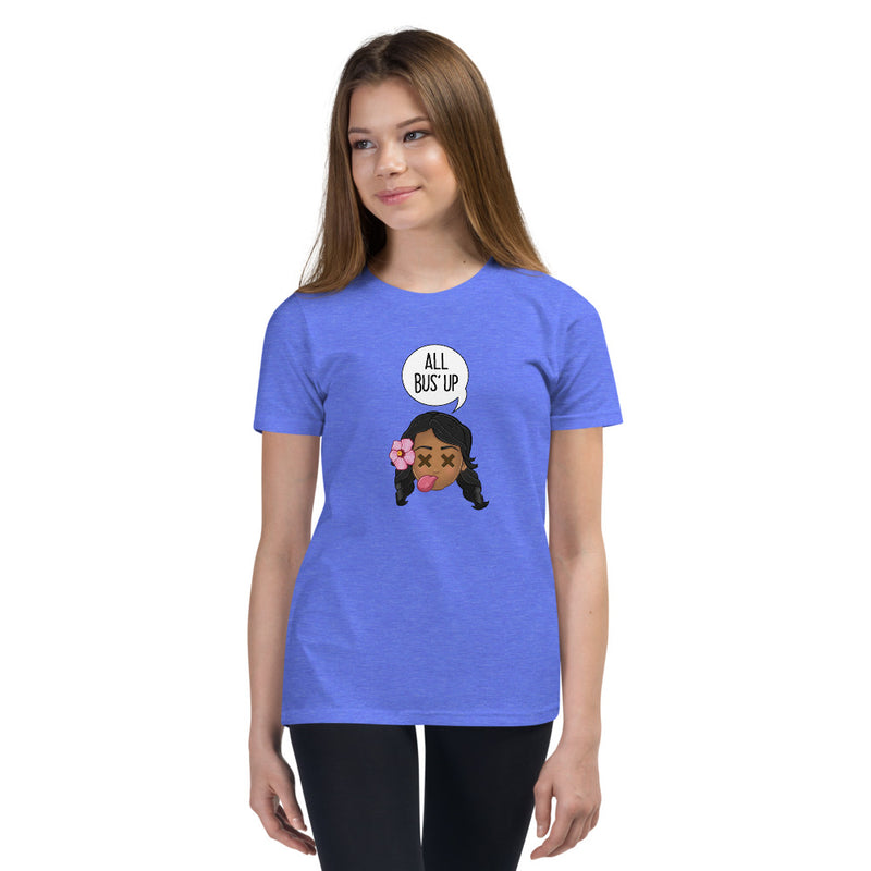 """ALL BUS' UP"" KID'S ORIGINAL PIDGINMOJI CHARACTERS SHORT SLEEVE T-SHIRT"