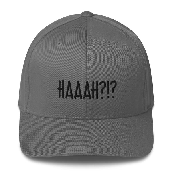 """HAAAH?!?"" Pidginmoji Light Structured Cap"