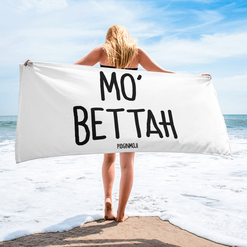 """MO' BETTAH"" PIDGINMOJI Beach Towel"