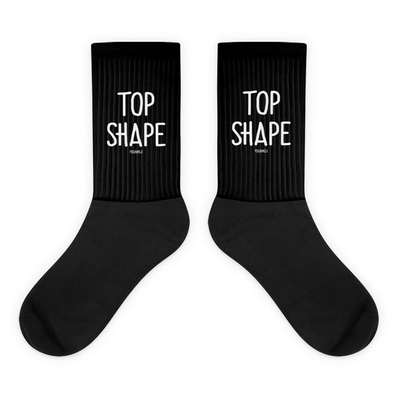 """TOP SHAPE"" PIDGINMOJI Socks"