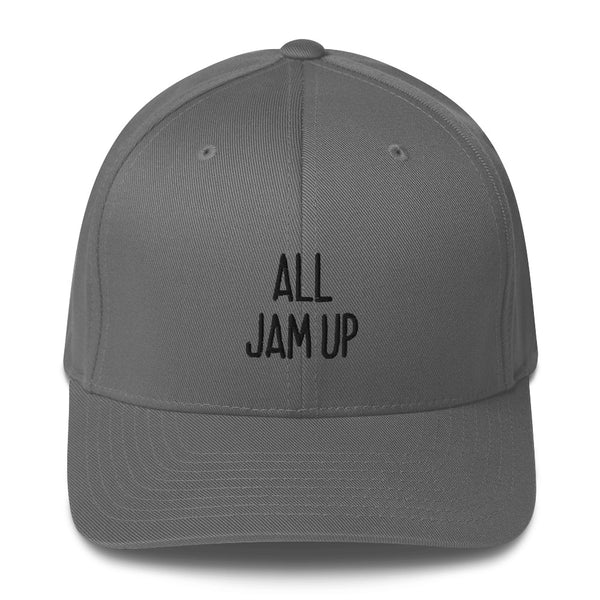 """ALL JAM UP"" Pidginmoji Light Structured Cap"