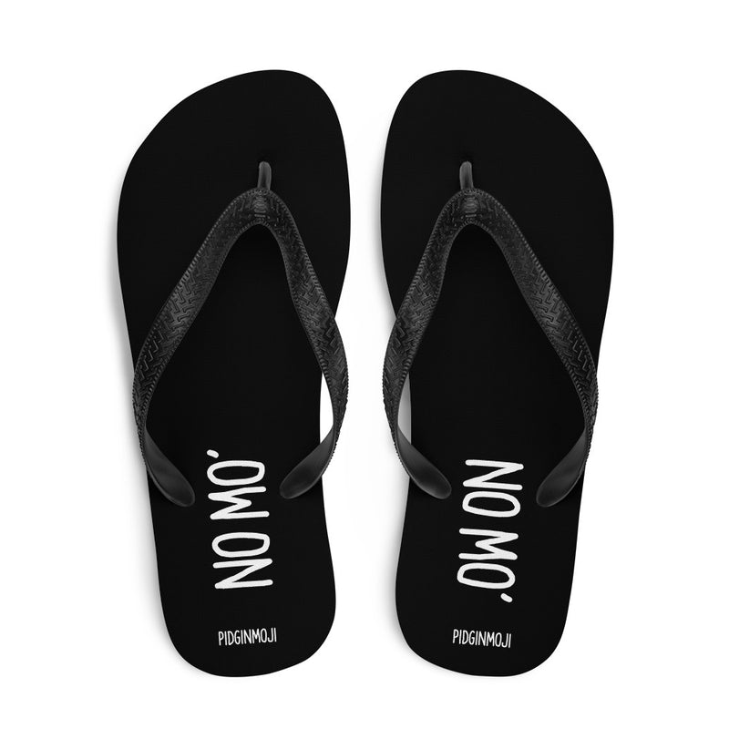 """NO MO'"" PIDGINMOJI Slippahs (Black)"