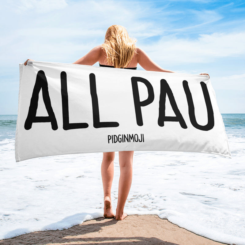 """ALL PAU"" PIDGINMOJI Beach Towel"