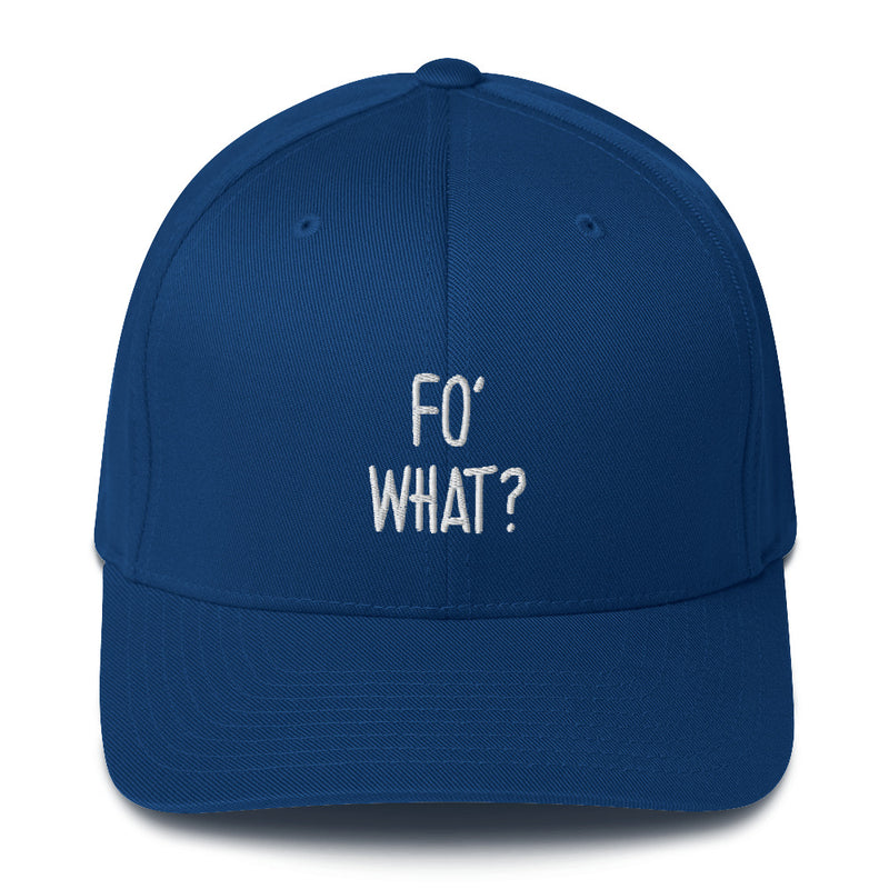 """FO' WHAT?"" Pidginmoji Dark Structured Cap"