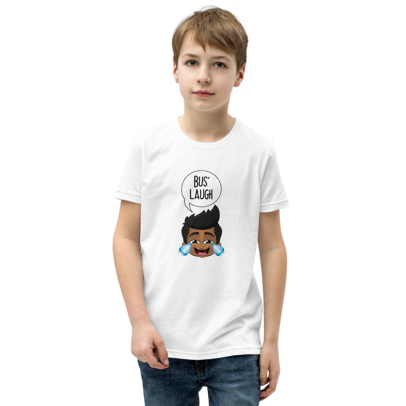 """BUS' LAUGH"" KID'S ORIGINAL PIDGINMOJI CHARACTERS SHORT SLEEVE T-SHIRT"