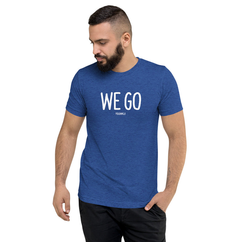 """WE GO"" Men's Pidginmoji Dark Short Sleeve T-shirt"