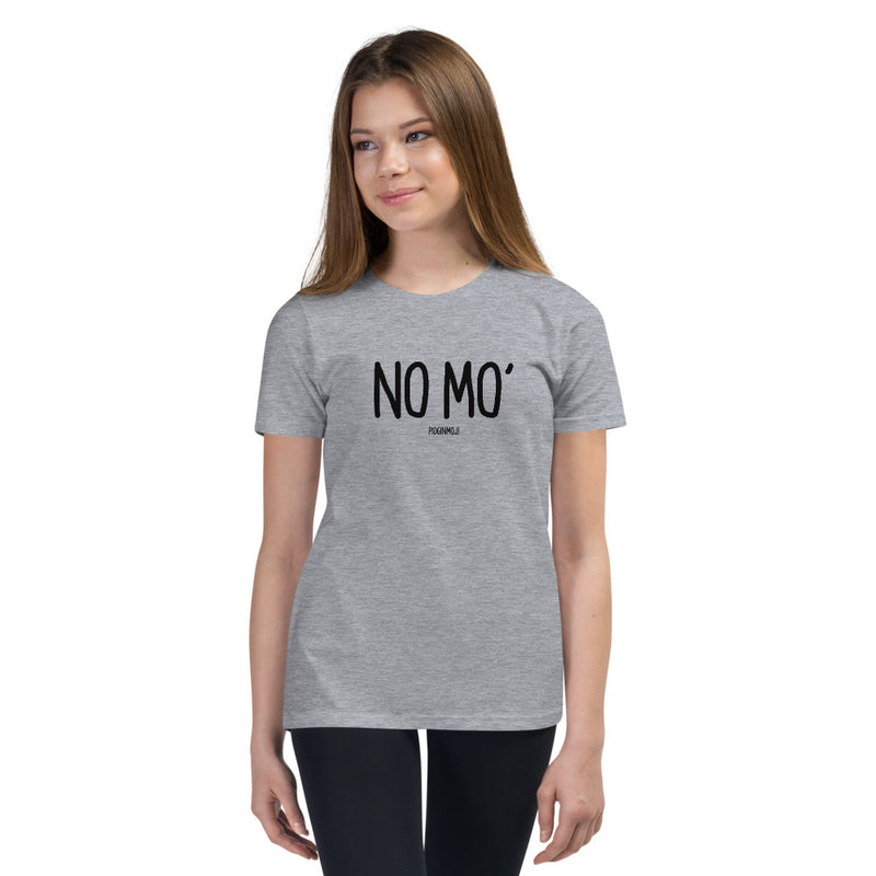 """NO MO'"" Youth Pidginmoji Light Short Sleeve T-shirt"