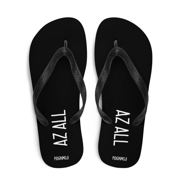 """AZ ALL"" PIDGINMOJI Slippahs (Black)"