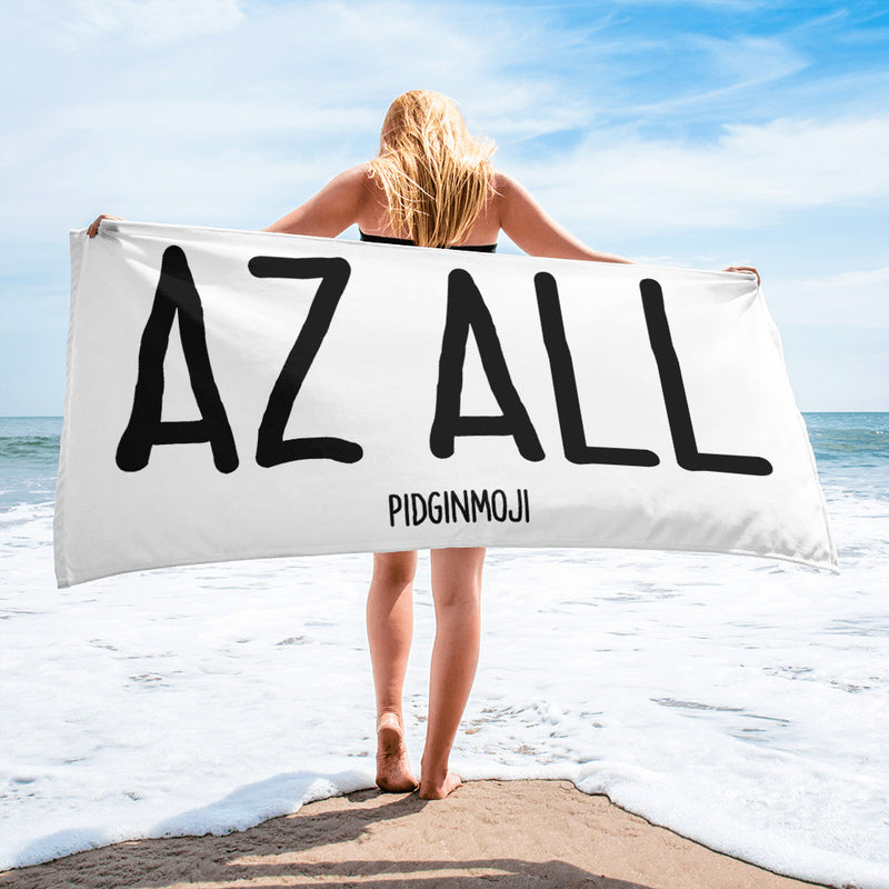 """AZ ALL"" PIDGINMOJI Beach Towel"