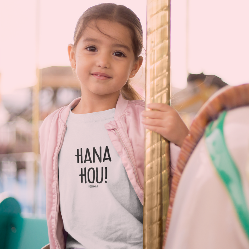 """HANA HOU!"" Youth Pidginmoji Light Short Sleeve T-shirt"