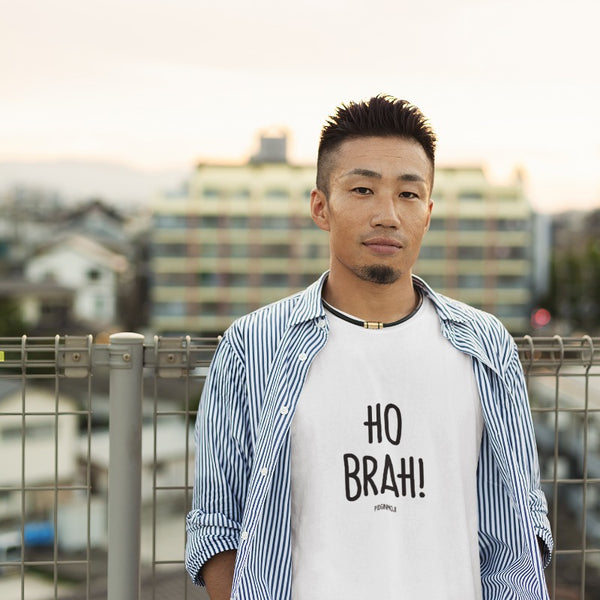 """HO BRAH!"" Men's Pidginmoji Light Short Sleeve T-shirt"