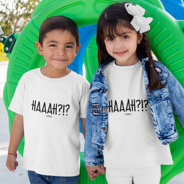 """HAAAH?!?"" Youth Pidginmoji Light Short Sleeve T-shirt"