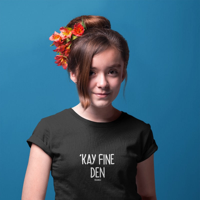 """'KAY FINE DEN"" Youth Pidginmoji Dark Short Sleeve T-shirt"
