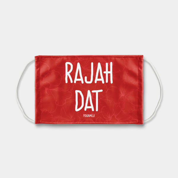 """RAJAH DAT"" PIDGINMOJI Face Mask (Red)"