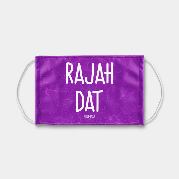 """RAJAH DAT"" PIDGINMOJI Face Mask (Purple)"