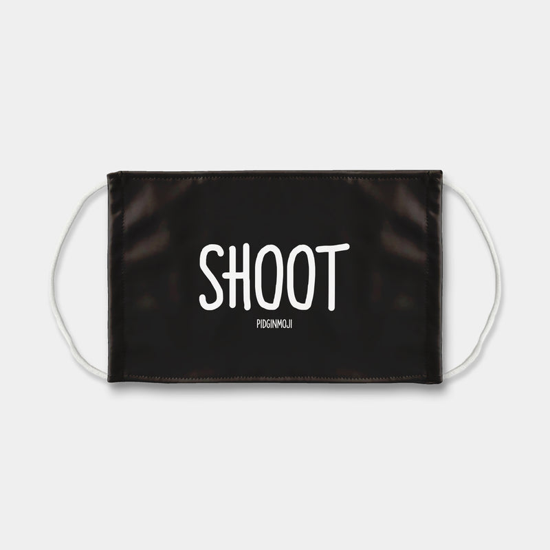 """SHOOT"" PIDGINMOJI Face Mask (Black)"
