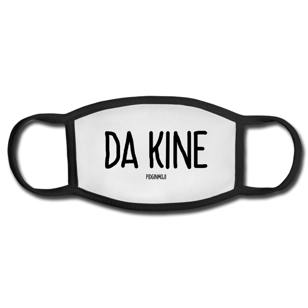 """DA KINE"" Pidginmoji Face Mask (White) - white/black"