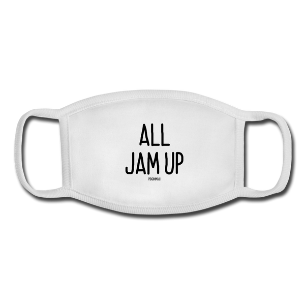 """ALL JAM UP"" Pidginmoji Face Mask (White) - white/white"