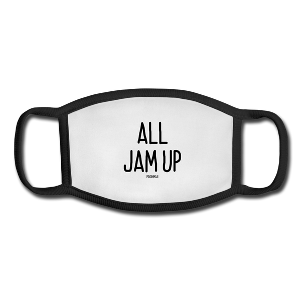 """ALL JAM UP"" Pidginmoji Face Mask (White) - white/black"