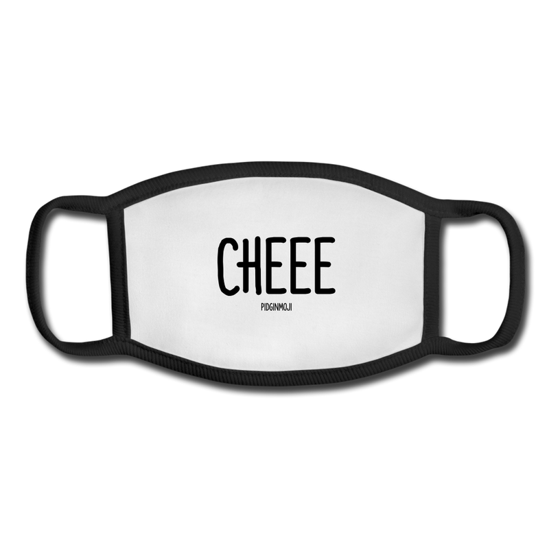"""CHEEE"" Pidginmoji Face Mask (White) - white/black"