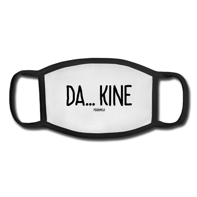 """DA... KINE"" Pidginmoji Face Mask (White) - white/black"