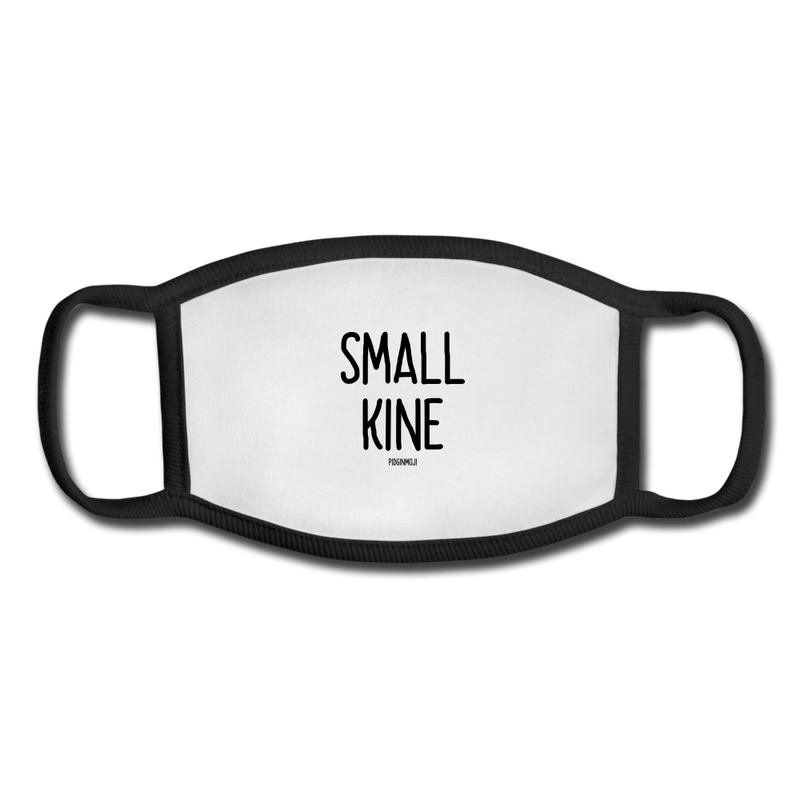 """SMALL KINE"" Pidginmoji Face Mask (White) - white/black"