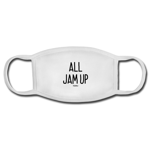"""ALL JAM UP"" PIDGINMOJI FACE MASK FOR ADULTS (WHITE) - white/white"