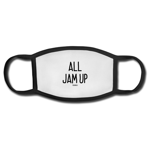 """ALL JAM UP"" PIDGINMOJI FACE MASK FOR ADULTS (WHITE) - white/black"