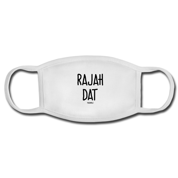 """RAJAH DAT"" PIDGINMOJI FACE MASK FOR ADULTS (WHITE) - white/white"