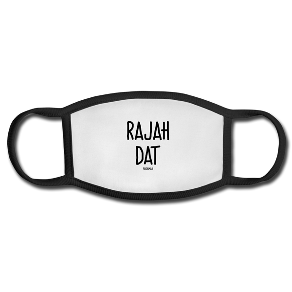 """RAJAH DAT"" PIDGINMOJI FACE MASK FOR ADULTS (WHITE) - white/black"