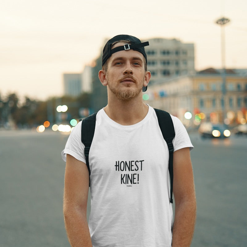 """HONEST KINE!"" Men's Pidginmoji Light Short Sleeve T-shirt"
