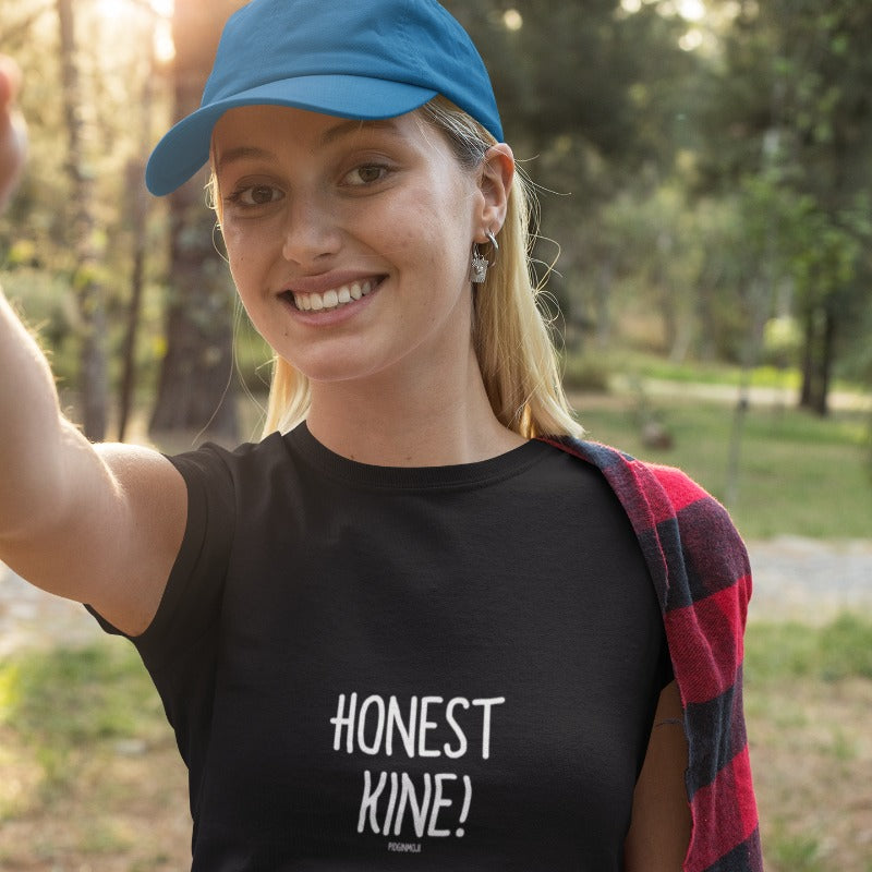 """HONEST KINE!"" Women's Pidginmoji Dark Short Sleeve T-shirt"