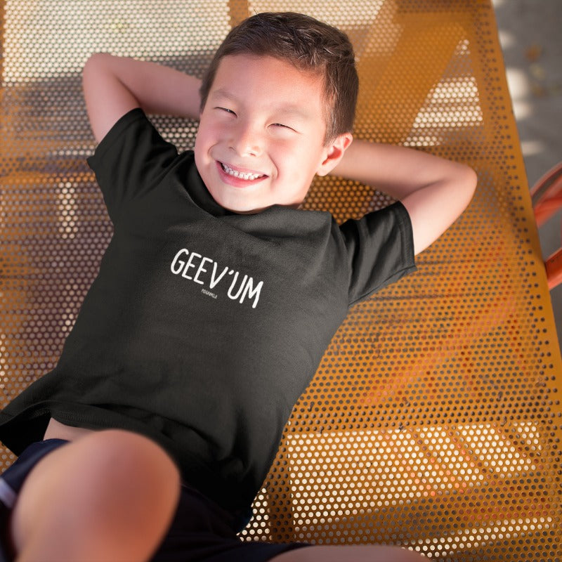 """GEEV 'UM"" Youth Pidginmoji Dark Short Sleeve T-shirt"