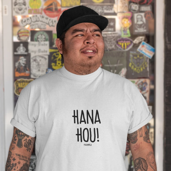 """HANA HOU!"" Men's Pidginmoji Light Short Sleeve T-shirt"