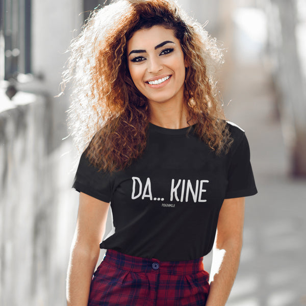 """DA... KINE"" Women's Pidginmoji Dark Short Sleeve T-shirt"