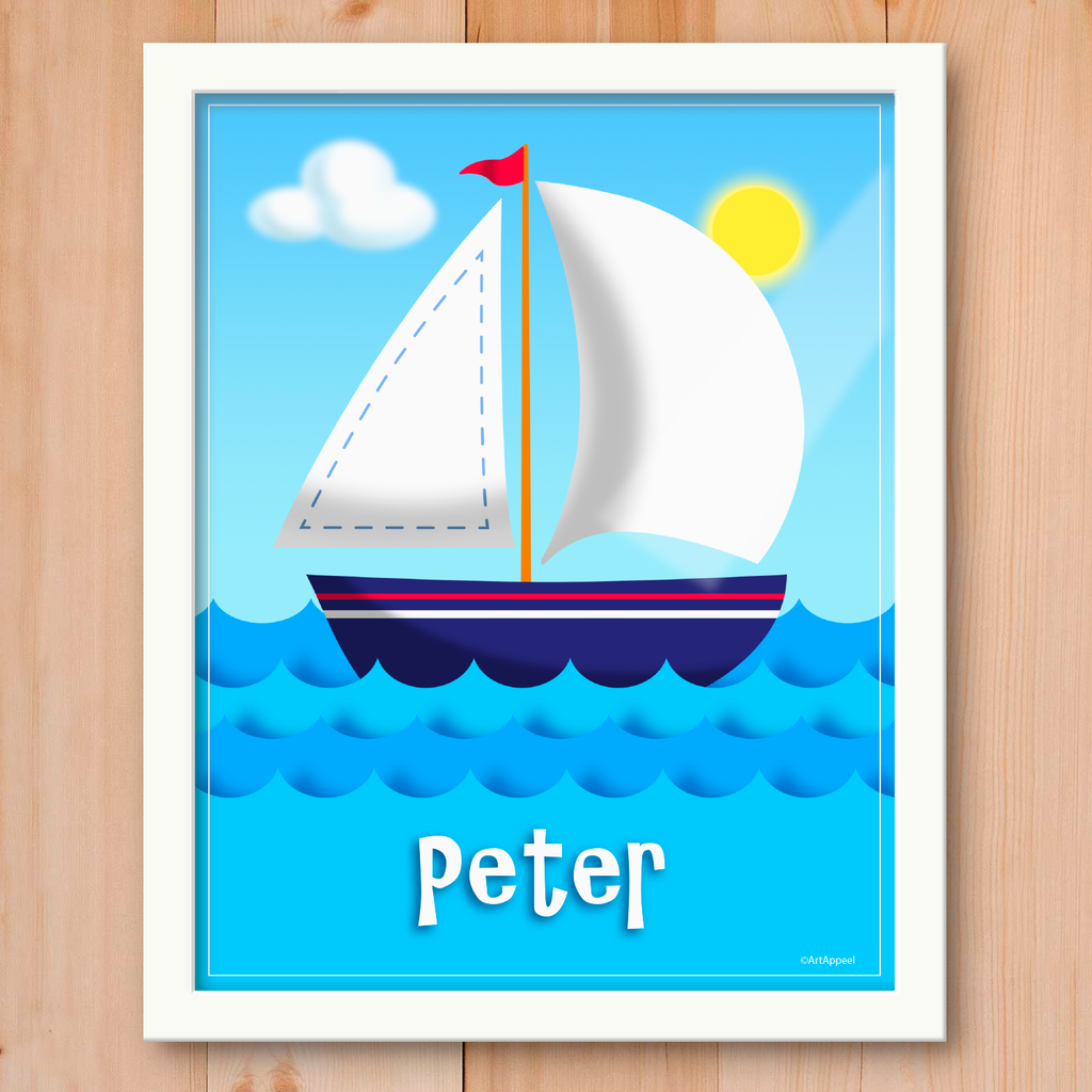 Sailboat Personalized Framed Print